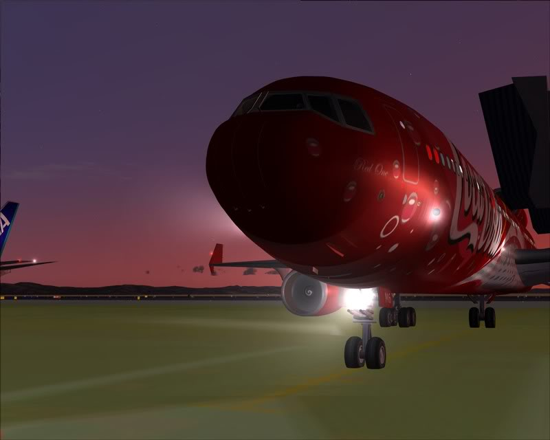 FS9 - Decolagem em Hakodate ....do MD-11 Coca Cola -2008-dec-31-075