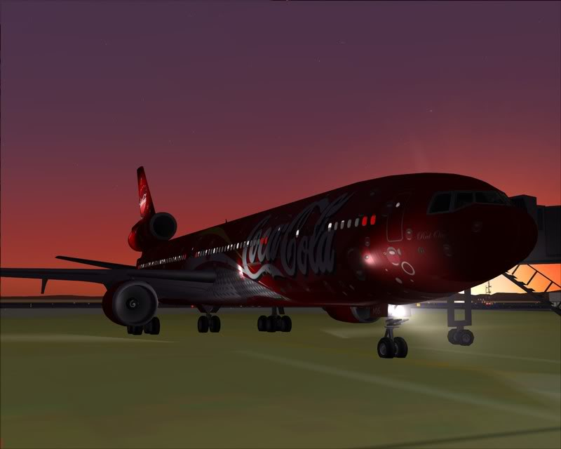 FS9 - Decolagem em Hakodate ....do MD-11 Coca Cola -2008-dec-31-076