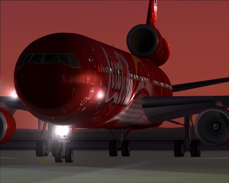 FS9 - Decolagem em Hakodate ....do MD-11 Coca Cola -2008-dec-31-080