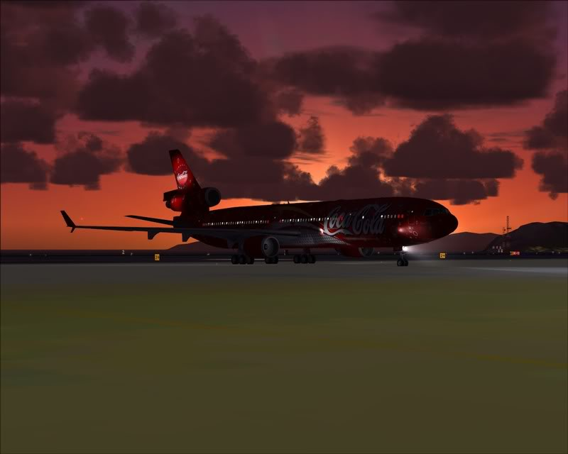 FS9 - Decolagem em Hakodate ....do MD-11 Coca Cola -2008-dec-31-082
