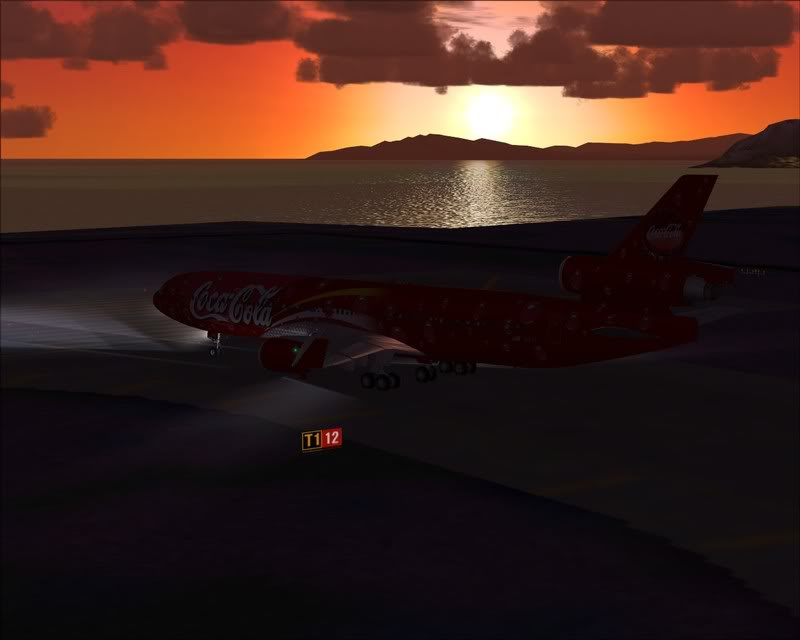 FS9 - Decolagem em Hakodate ....do MD-11 Coca Cola -2008-dec-31-084