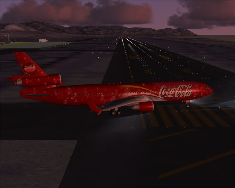 FS9 - Decolagem em Hakodate ....do MD-11 Coca Cola -2008-dec-31-086