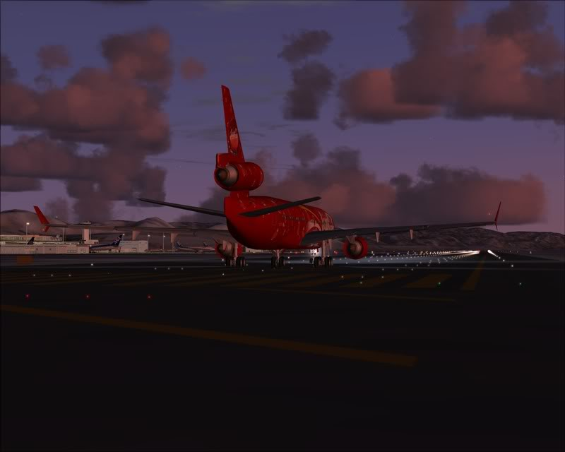 FS9 - Decolagem em Hakodate ....do MD-11 Coca Cola -2008-dec-31-087