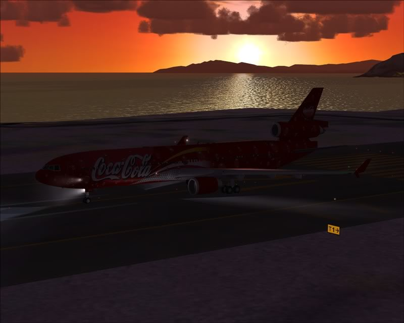 FS9 - Decolagem em Hakodate ....do MD-11 Coca Cola -2008-dec-31-089