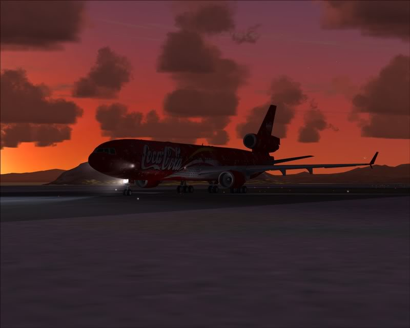 FS9 - Decolagem em Hakodate ....do MD-11 Coca Cola -2008-dec-31-090