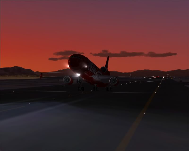 FS9 - Decolagem em Hakodate ....do MD-11 Coca Cola -2008-dec-31-096