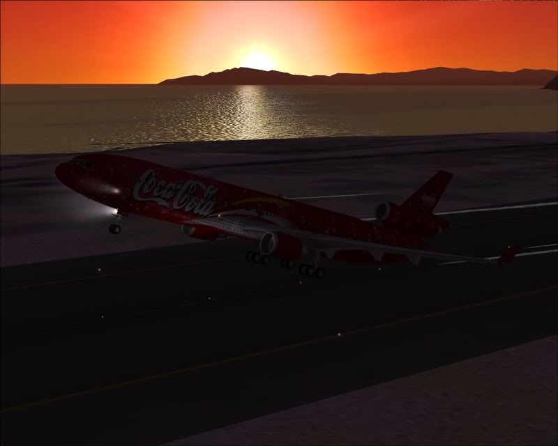 FS9 - Decolagem em Hakodate ....do MD-11 Coca Cola -2008-dec-31-097