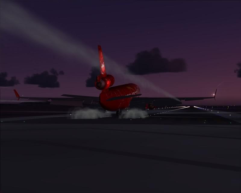 FS9 - Pouso em OBIHIRO.... muita borracha voando, lindo aeroporto -2008-dec-31-132
