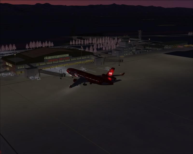 FS9 - Pouso em OBIHIRO.... muita borracha voando, lindo aeroporto -2008-dec-31-166