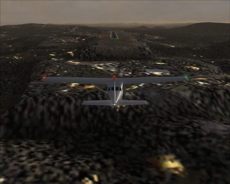 FS9 - Skien.. uma linda aproximação...,linda cidade ... ate mesmo para o FS, vale a pena -2008-nov-2-025