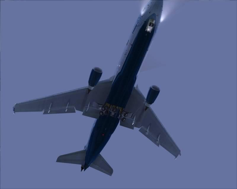 FS9 - Decolagem final Wakkanai...deu tudo certo,vamos rumo a Sapporo agora em voo -2009-mar-20-034