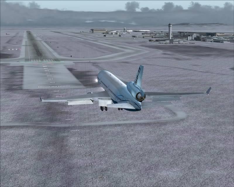 FS9 - Aproximação SAPPORO ... Parte 1,estou adorando este MD-11 -2009-mar-21-062