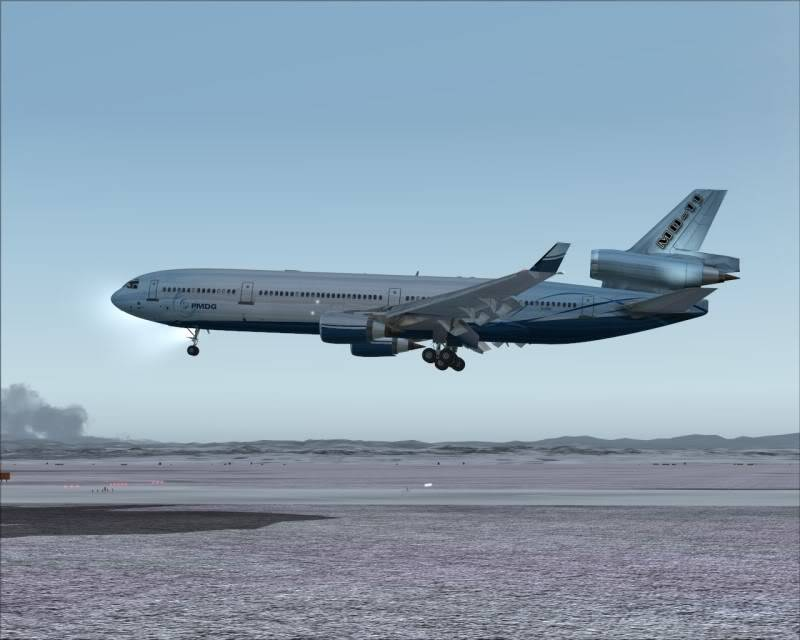 FS9 - Aproximação SAPPORO ... Parte 1,estou adorando este MD-11 -2009-mar-21-063