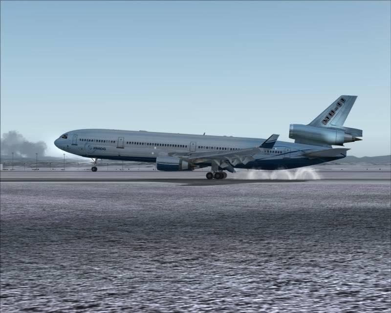 FS9 - Aproximação SAPPORO ... Parte 1,estou adorando este MD-11 -2009-mar-21-064