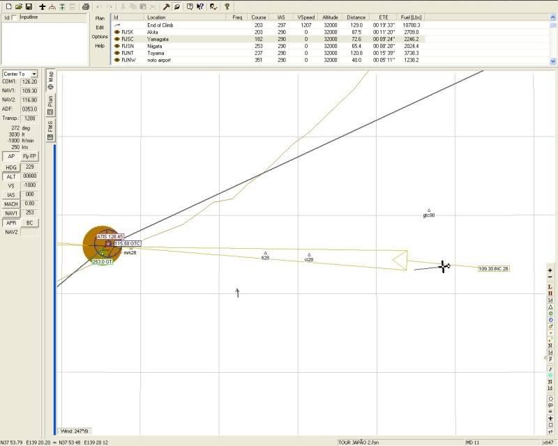 FS9 - Aproximação para NIGATA....,muito vento... balanço geral ... -2009-oct-25-025