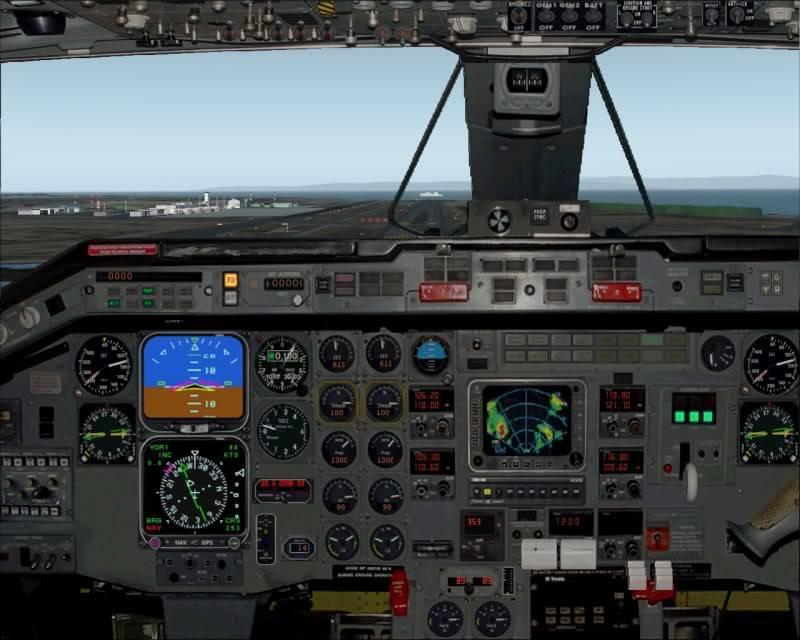 FS9 - Aproximação para NIGATA....,muito vento... balanço geral ... -2009-oct-25-035