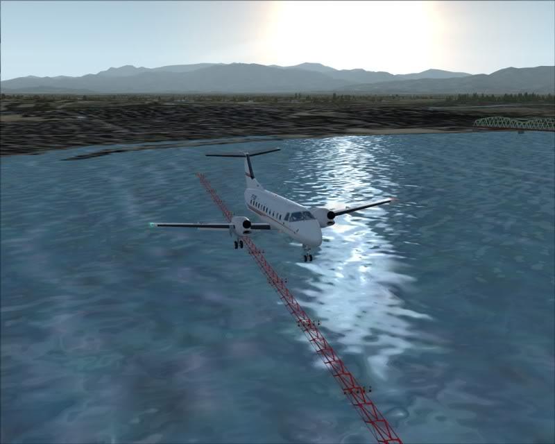 FS9 - NIGATA , fim do pouso e gate ...,um pouco de Nigata - Aeroporto Real x Virtual show -2009-oct-25-050