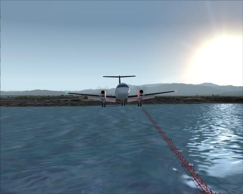 FS9 - NIGATA , fim do pouso e gate ...,um pouco de Nigata - Aeroporto Real x Virtual show -2009-oct-25-051