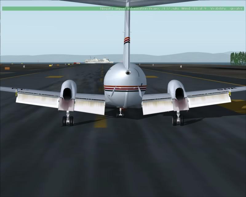 FS9 - NIGATA , fim do pouso e gate ...,um pouco de Nigata - Aeroporto Real x Virtual show -2009-oct-25-056