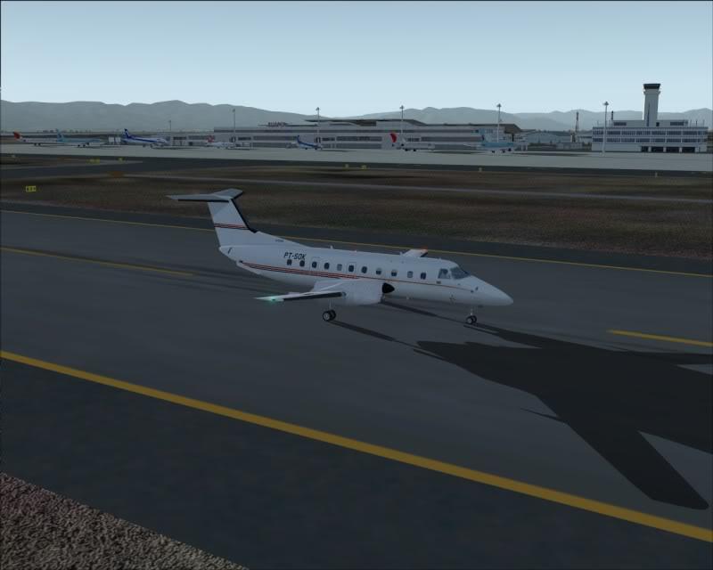 FS9 - NIGATA , fim do pouso e gate ...,um pouco de Nigata - Aeroporto Real x Virtual show -2009-oct-25-057