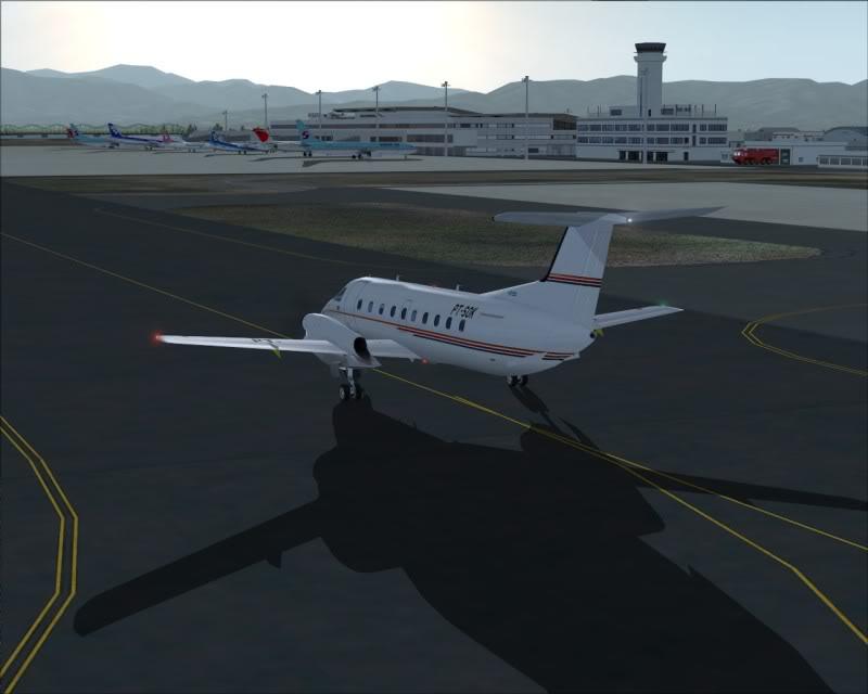 FS9 - NIGATA , fim do pouso e gate ...,um pouco de Nigata - Aeroporto Real x Virtual show -2009-oct-25-063