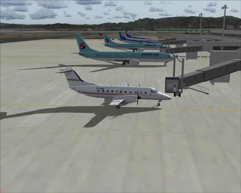FS9 - NIGATA , fim do pouso e gate ...,um pouco de Nigata - Aeroporto Real x Virtual show -2009-oct-25-064