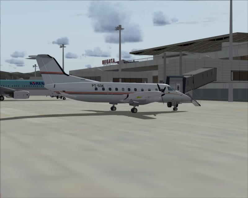 FS9 - NIGATA , fim do pouso e gate ...,um pouco de Nigata - Aeroporto Real x Virtual show -2009-oct-25-065