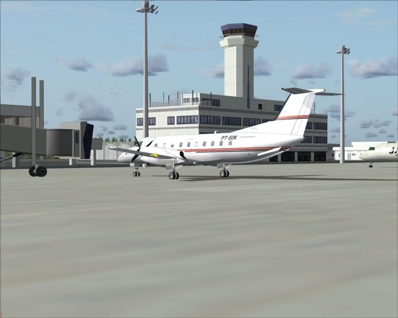 FS9 - NIGATA , fim do pouso e gate ...,um pouco de Nigata - Aeroporto Real x Virtual show -2009-oct-25-066