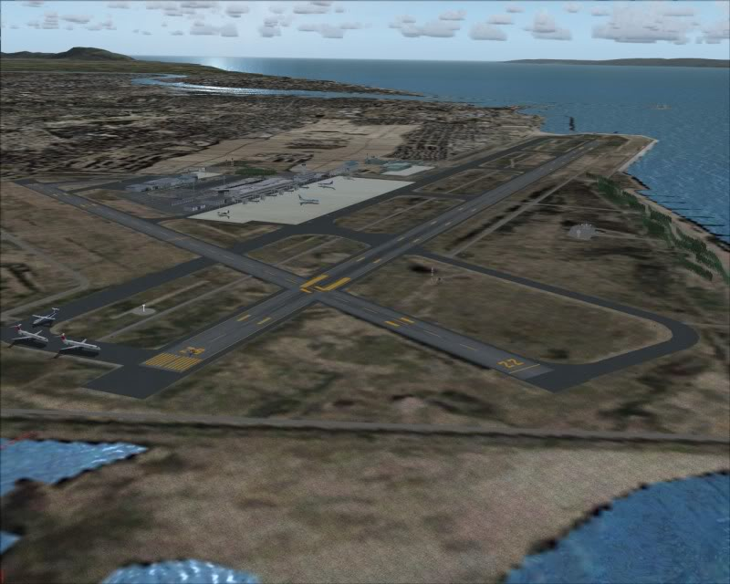 FS9 - NIGATA , fim do pouso e gate ...,um pouco de Nigata - Aeroporto Real x Virtual show -2009-oct-28-070