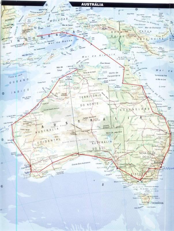 Por onde ja passei e por onde quero passar MapaAustraliaCanguru