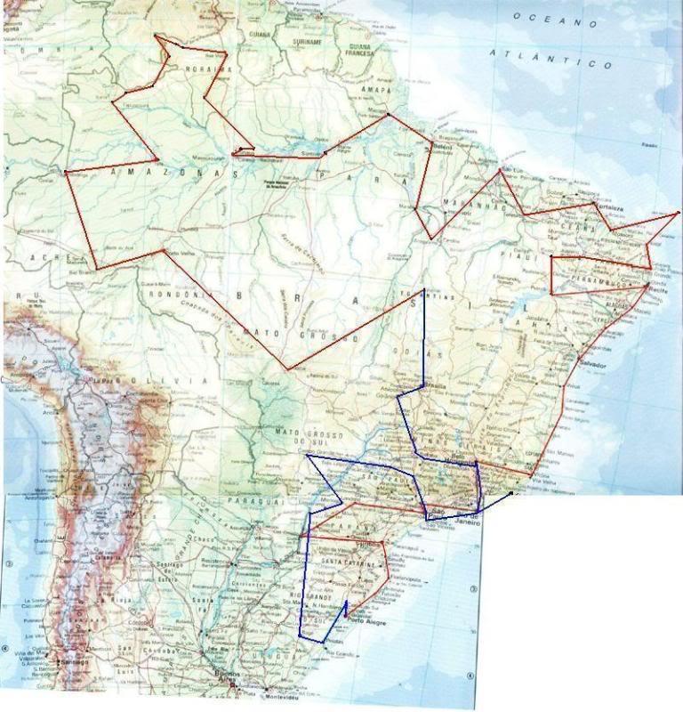 Por onde ja passei e por onde quero passar MapaBrasilTourBrasilmenor