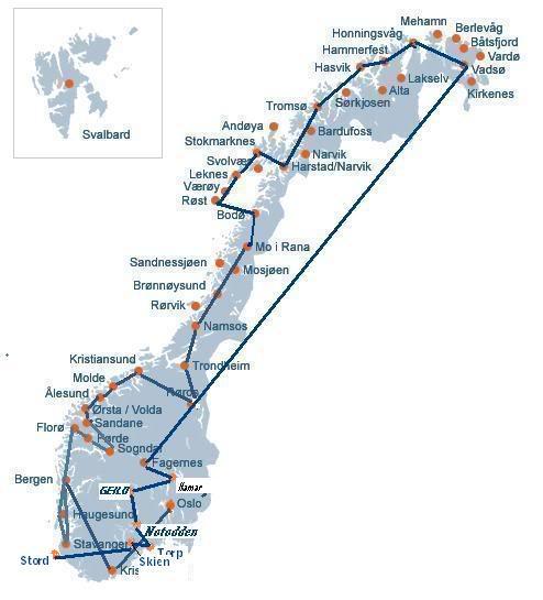 """FS9 - Tour Noruega o """"FIM"""" parte 1 , Skien - Stord.. em um belo relato MapaNoruega1"""