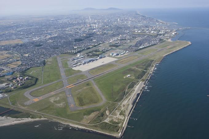 FS9 - NIGATA , fim do pouso e gate ...,um pouco de Nigata - Aeroporto Real x Virtual show NigataAirport