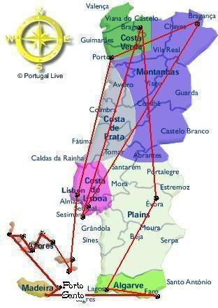 Por onde ja passei e por onde quero passar Portugalmapa-1-1