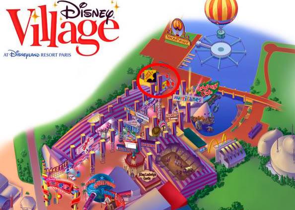 Disney Village :: Café Mickey MappaDisneyVillage_01-1