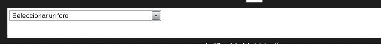 Buenas quisiera saber como cambio color a la barra de seleccionar foro Sele