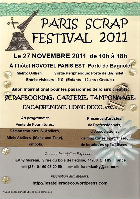 Salon Paris Scrap Festival - 27 novembre Flyerparisscrap