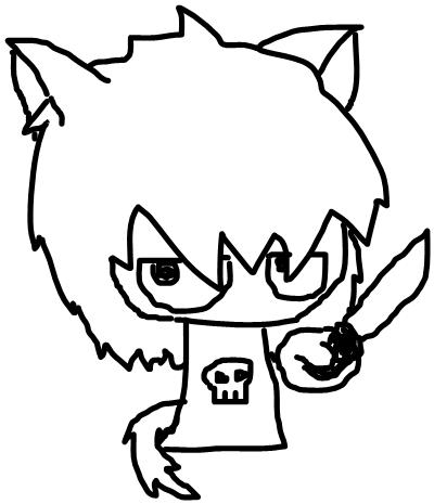 Chibi Battle KnifeKiora