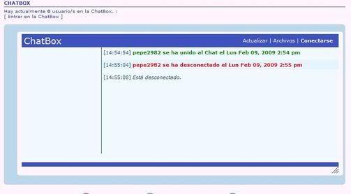 Otra chat box (hay dos ahora) Chat