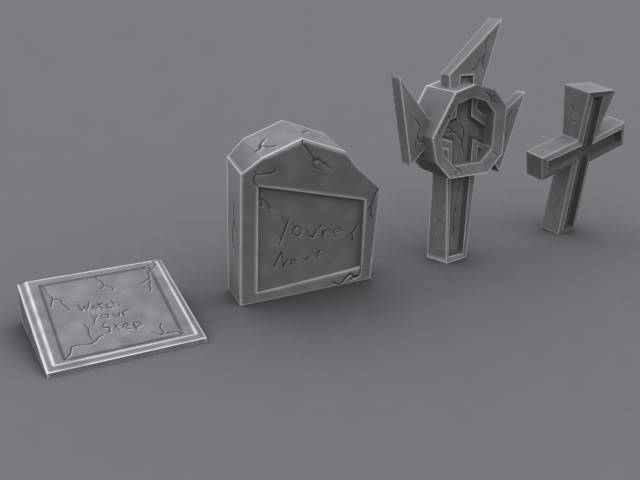Enviro Art Assets - Page 2 Tombstones