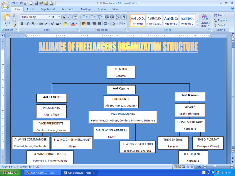 AoF ORGANIZATION STRUCTURE NewStructure