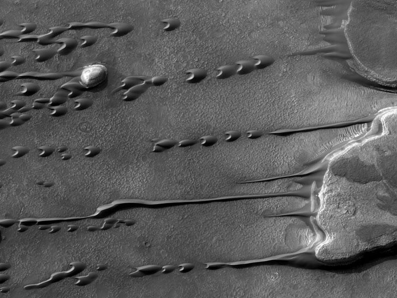 "Dunas ""fluidas"" en Marte Sandmars"