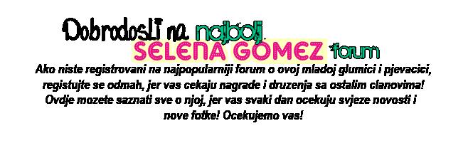 ♥SELENA MARIE GOMEZ♥ - Portal Welcome