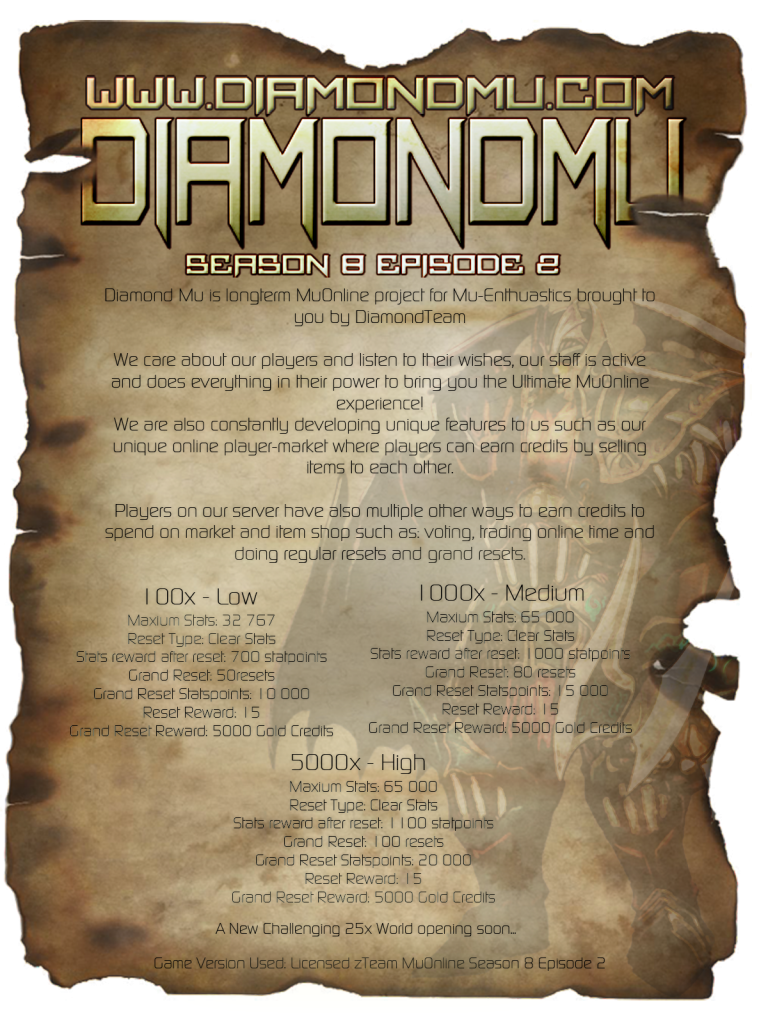 [AD] DiamondMu Season 8 | Exp: 25x | Limited Shops | No FO Diamondmuadv3_zps5f49bcb6