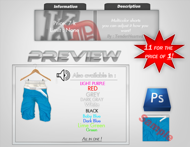 !!FileShop!! TenderHearted/SupremeBeast Sweet Prices!!! SHORTS_MULTI