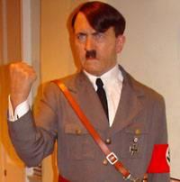 Hình ảnh vui về sự tiến hoá của loài người Hitler