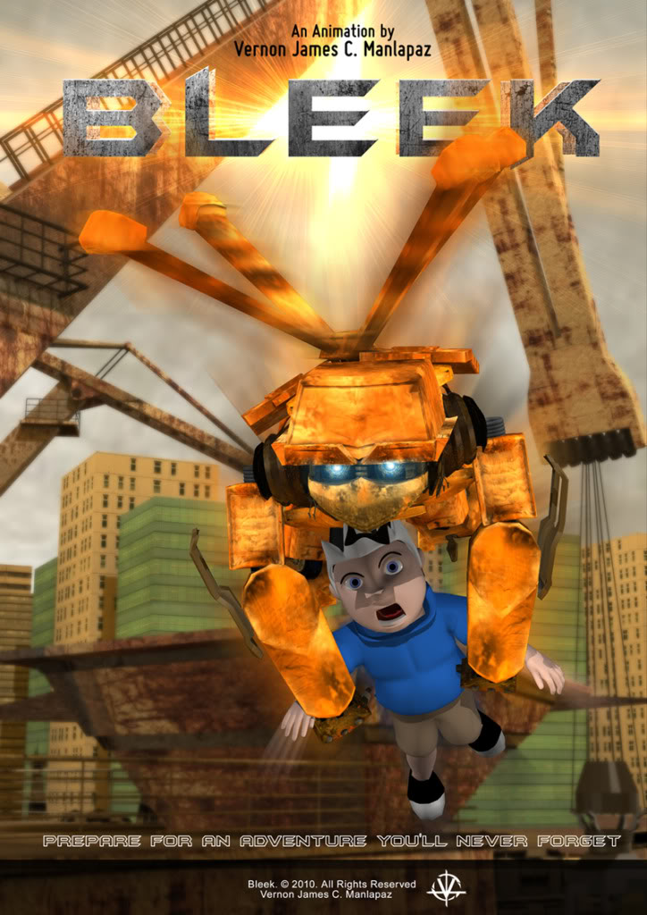 Bleek and Dante 3D Animation Poster