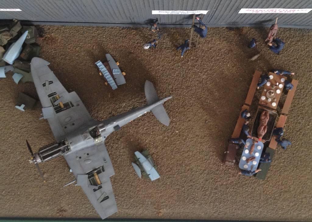 1/72 diorama Spitfire Mk.V  7