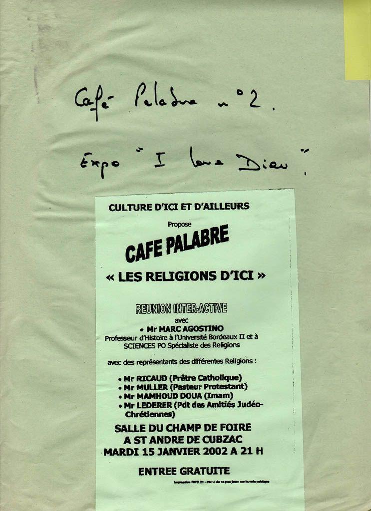 """Café Palabre n°2 Expo """"I love Dieu"""" Sanstitre-5"""