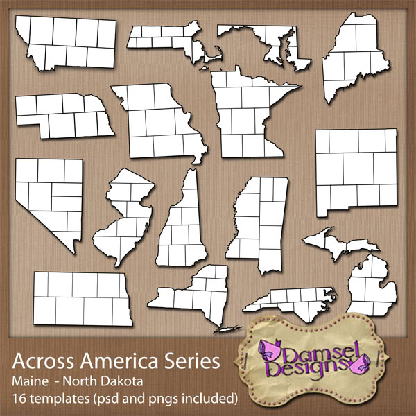 Damsel Designs Products DD_AcrossAmericaSeries_set2
